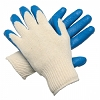 Memphis 9682 Blue Latex Glove, 13 ga., Palm Coated Knit, Dozen