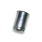 Atlas AEOS10-1024-130, Rivetnut Insert, 10-24 UNC-2B (.020-.130 Grip) Round Body, Low Profile Head, Steel, Zinc Clear, Increments of 100 Pcs