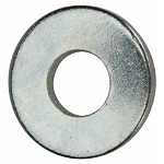 Marson, SS-8-500 Back-Up Washer 1/8 Inch, 0.131 Inch ID x 0.375 Inch OD x 0.048 Inch Thick, Round, Steel, Zinc