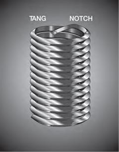 Recoil, 13086, Tanged Insert 1/2-13 UNC, 3D/1.5L 304 Stainless Steel Screw-Locking, MS21209C8-30 3585-8CN1500