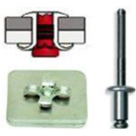 , AB8-8CLD-B-CT Button HD Plain 0.250 Inch 0.376-0.500 Inch Inch GR Alum//Steel CLSD End Blind Rivet; 1//4 Inch
