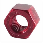 Huck® Huck360® 360NH-R16RX Vibration Resistant Reusable Locking Nut; 1/2 Inch (0.500 Inch), Straight Hex, Grade 8 Steel, Zinc Red Dyed Trivalent Chromate & Huckguard
