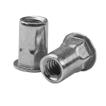 Sherex CAH2-2520-165T, Rivetnut Insert, 1/4-20 UNC-2B (.027-.165 Grip) Semi-Hex Body, Low Profile Head, Steel, Zinc Clear