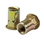 Sherex CAH2-2520-260, Rivetnut Insert, 1/4-20 UNC-2B (.165-.260 Grip) Semi-Hex Body, Low Profile Head, Steel, Zinc Yellow