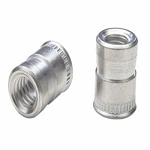Avk ATS2-832, Nutsert Insert, 8-32 UNC-2B, Material Thickness (.030-Up) Round Nutsert Splined, Low Profile Head, Steel, Cadmium Clear