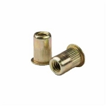 Sherex CAK2-0632-080, Rivetnut Insert, 6-32 UNC-2B (.020-.080 Grip) Round Body Splined, Low Profile Head, Steel, Zinc Yellow
