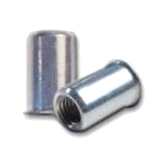 Sherex CAO2-1032-130, Rivetnut Insert, 10-32 UNF-2B (.020-.130 Grip) Round Body, Low Profile Head, Steel, Zinc Clear