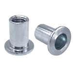 Marson MRN Series M47254 Round Body Rivetnut Insert; 1/4-20 UNC-2B, (0.140 - 0.200 Inch Grip), Flat Head, Aluminum, Clear Protective Coating, 40/Pack