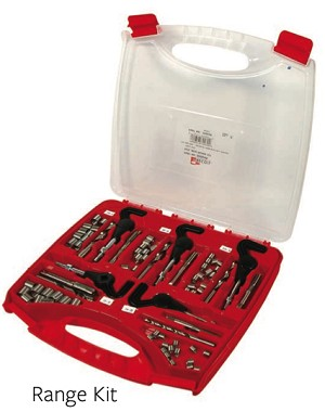 Recoil® 33004R Range Thread Repair Kit, 1/4, 5/16, 3/8, 7/16, 1/2 UNC