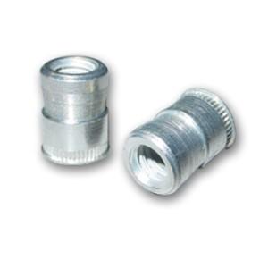Cat2 2520 Nutsert Insert 1 4 20 Unc 2b Material Thickness 030 Up Round Nutsert Splined Low Profile Head Steel Cadmium Clear