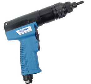 Blue Pneumatic Power-Spin BP350QC, For Large Diameter Rivet Nuts (1/4 - 3/8)