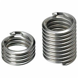Recoil TL03523 Tangless Free-Running Coil Threaded Insert, #2-56 UNC, 1.5D/0.129 Inch Length, 304 Stainless Steel